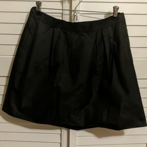 Black 100% silk short/mini skirt with tulle under